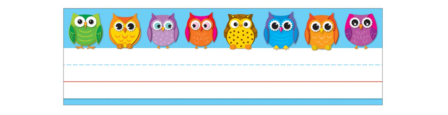 Colorful Owls Nameplates By Carson-Dellosa Publishing Company, Inc. (COR)